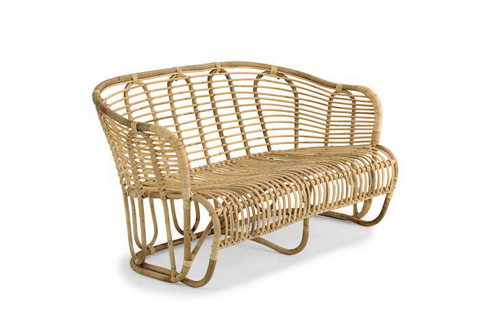 Designer Tove Kindt-Larsen's wavy rattan Swing Sofa (circa 1937) looks as modern as ever nearly 80 years later. It measures 170 centimeters long (about 67 inches) and is €933 from Liggestolen.