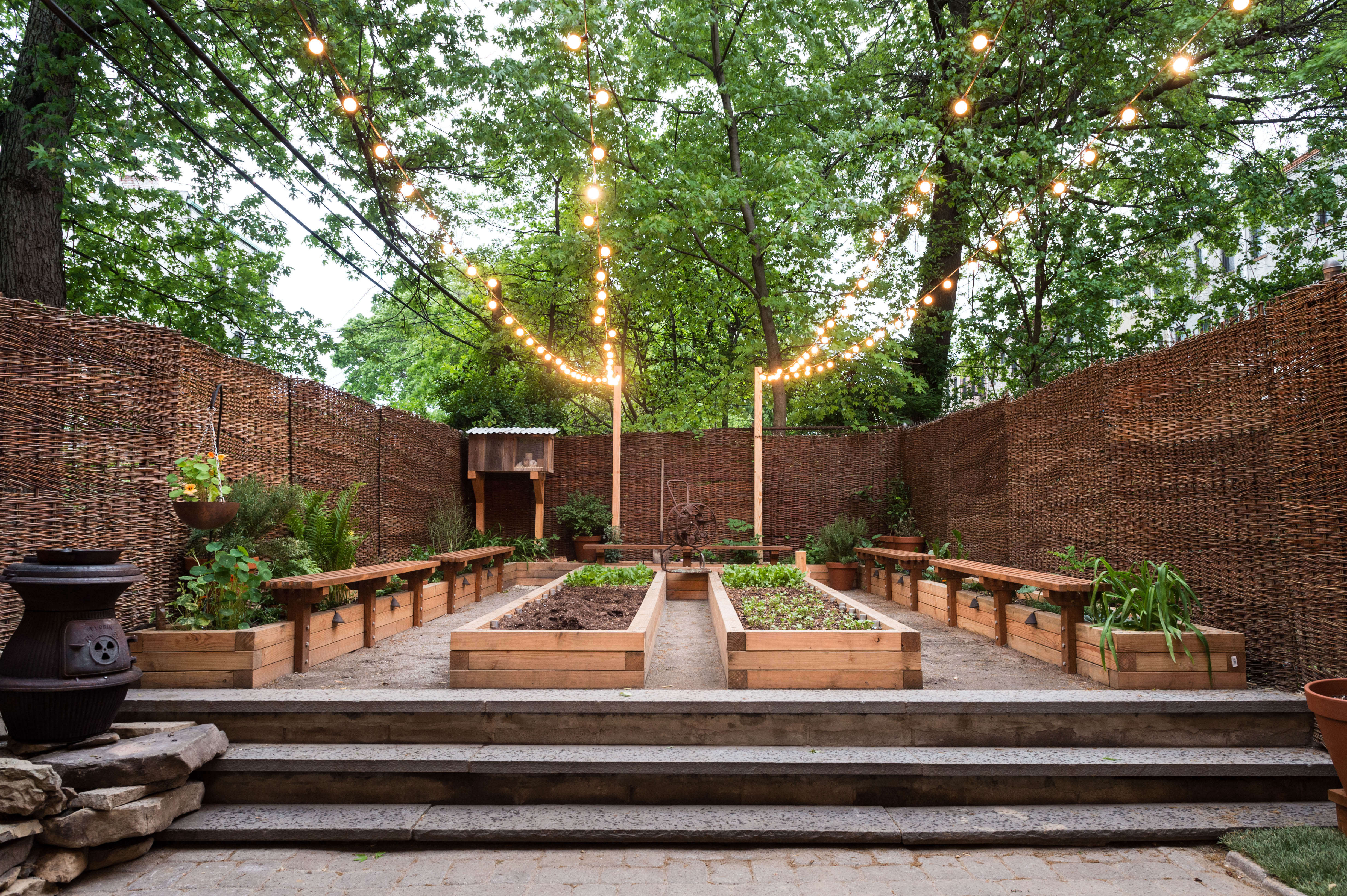 Above: Baxtrom And Rothman Built The Backyard Micro Farm Themselves. The  Garden Is Centered On A Horseshoe Shaped Pine Planter Surrounded By A  Perimeter Of ...