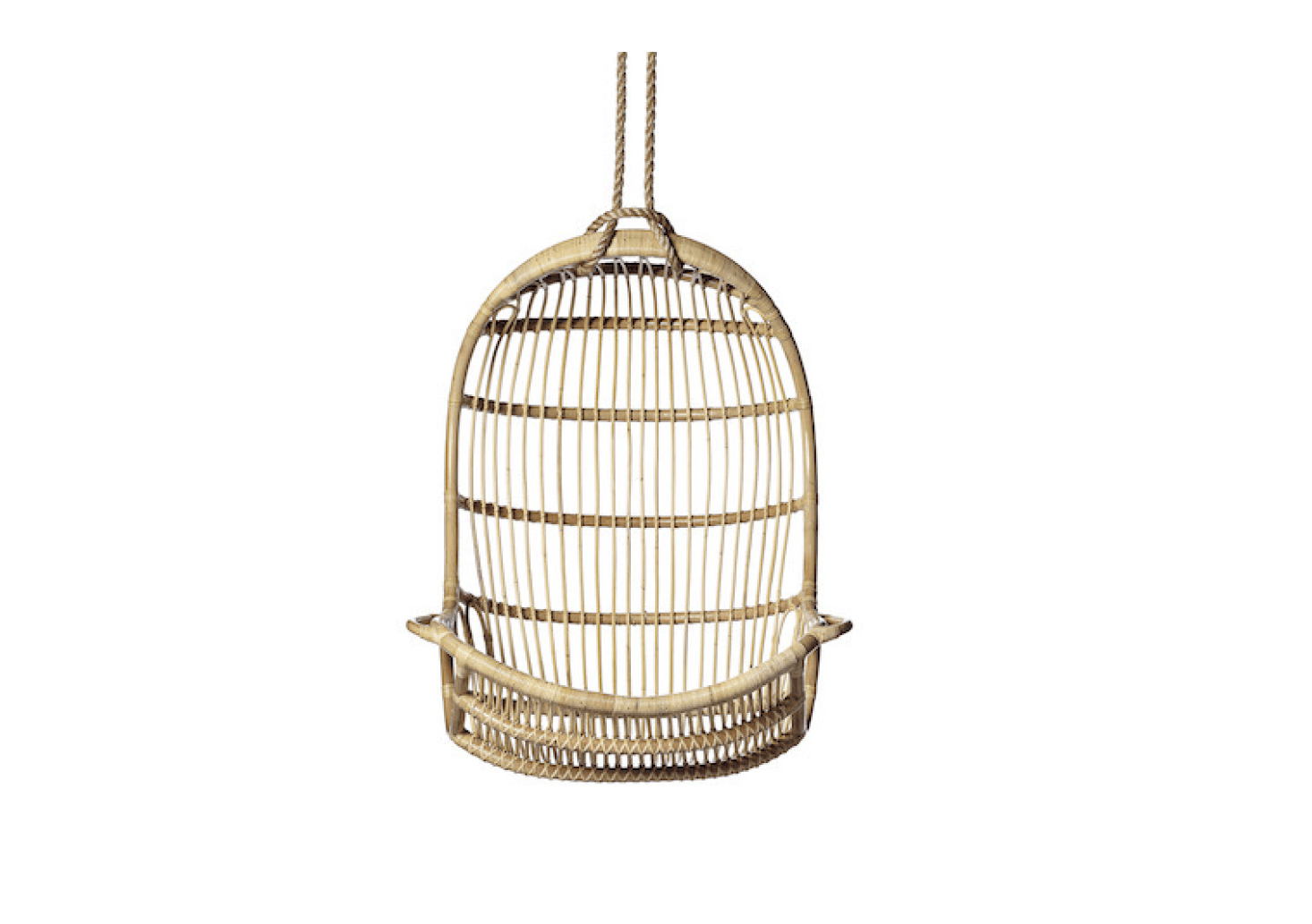 Made In Indonesia Of Hand Bent Rattan, Serena And Lilyu0027s Hanging Rattan  Chair Is