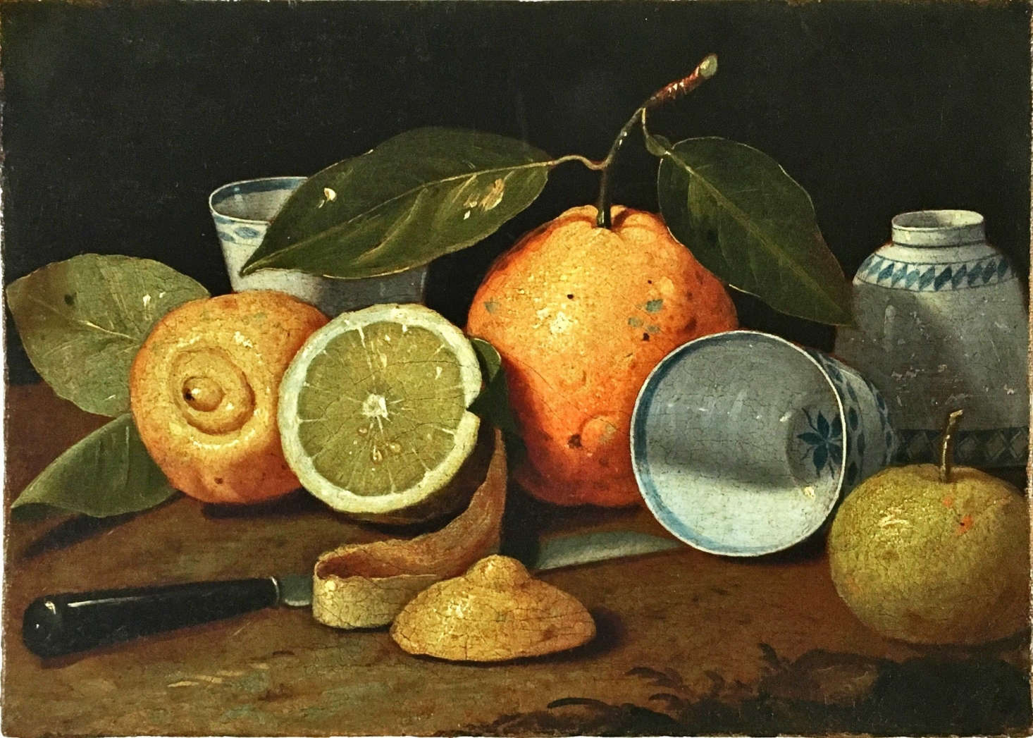 Mellon collection Munari oil painting still life lemons quince NYBG