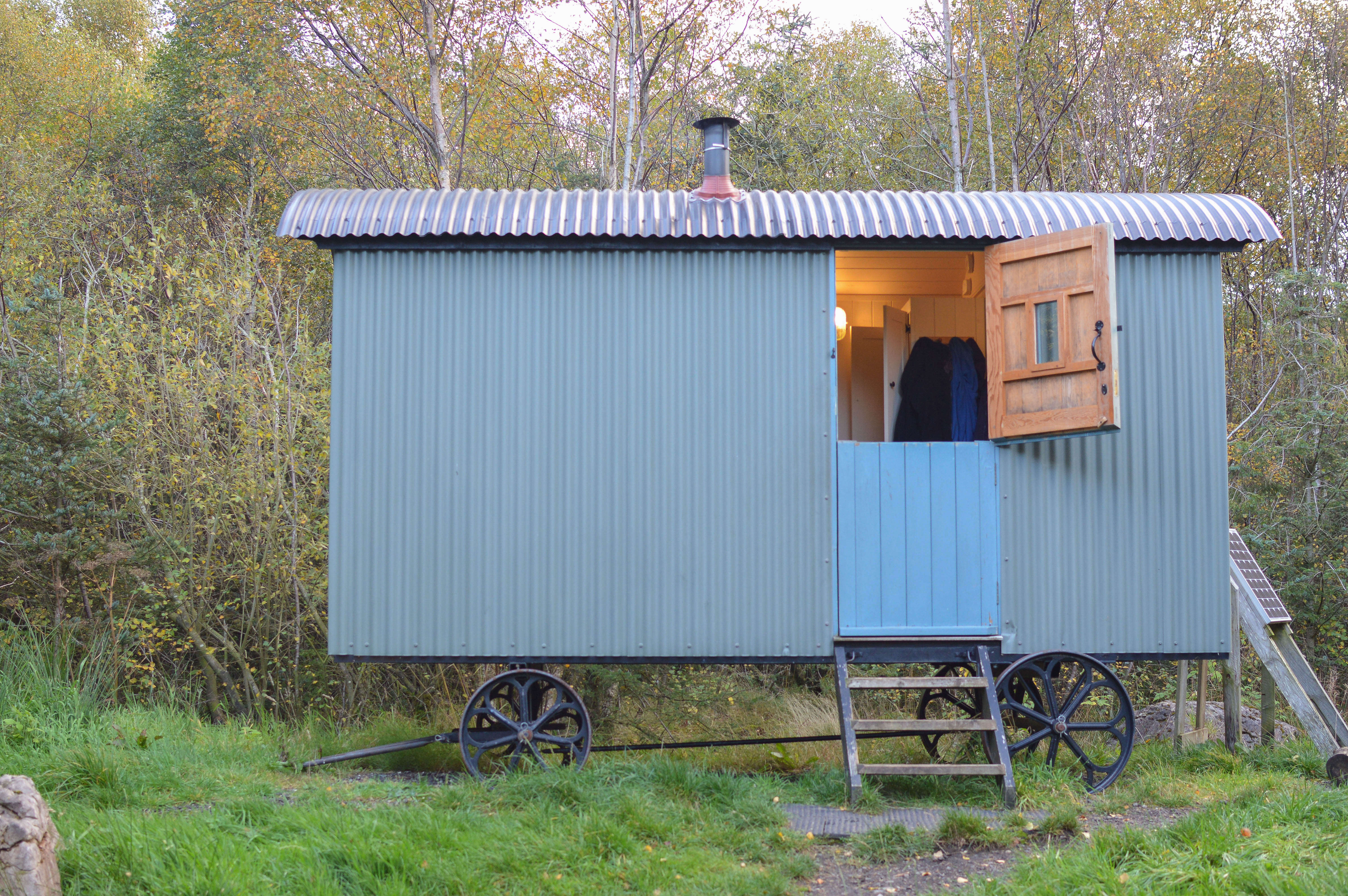 Camping in the Lake District: Shepherd\'s Huts in Greystoke Forest ...
