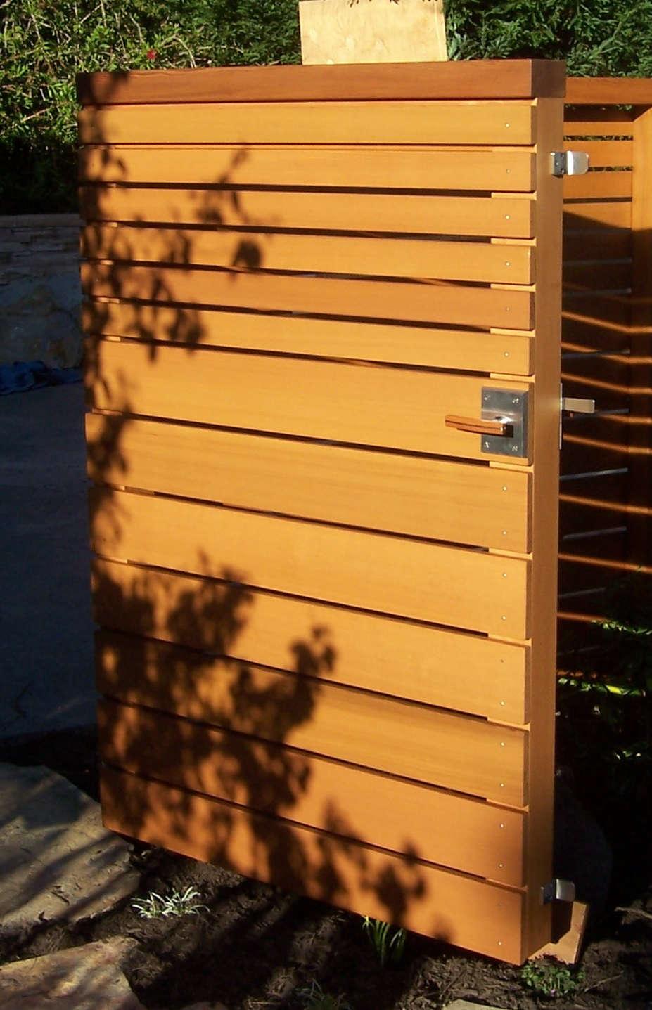 Wooden gate door latch