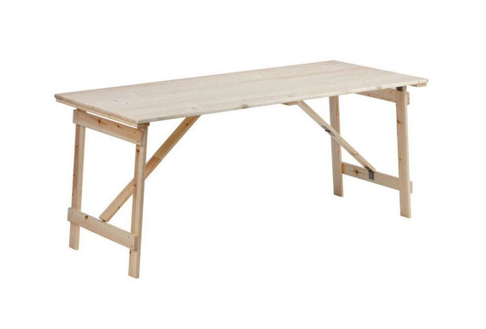Folding Unfinished Workbench Gardenista