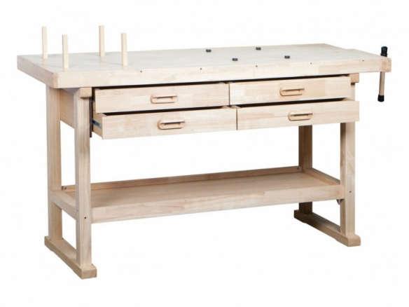 60 In 4 Drawer Hardwood Workbench
