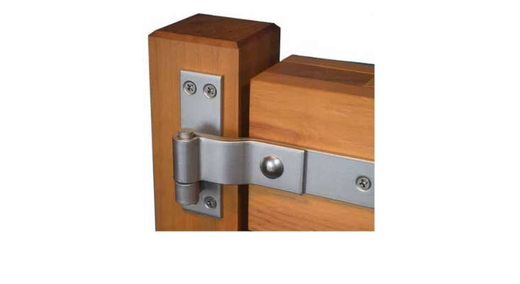 Above: A 16 Inch Brushed Stainless Steel Heavy Duty Strap Hinge ($365 Per  Pair At 360 Yardware) Has A Lift Off Mechanism To Allow A Door To Be  Quickly ...
