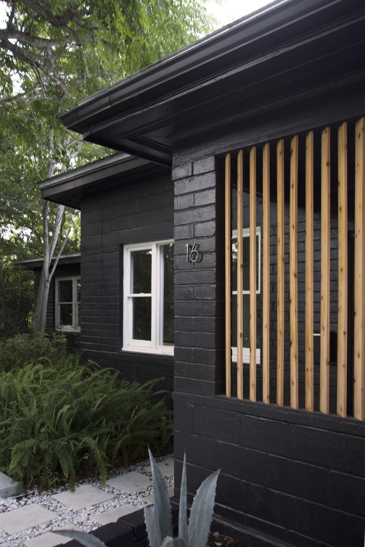 Brick house exterior remodel