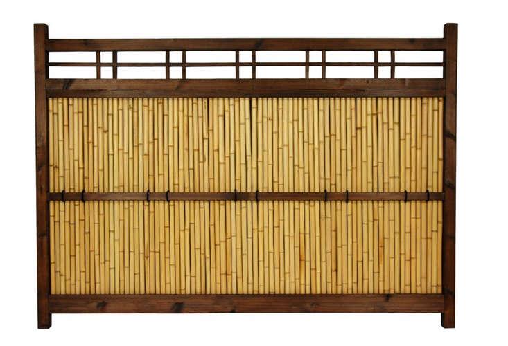 Japanese Bamboo Kumo Fence