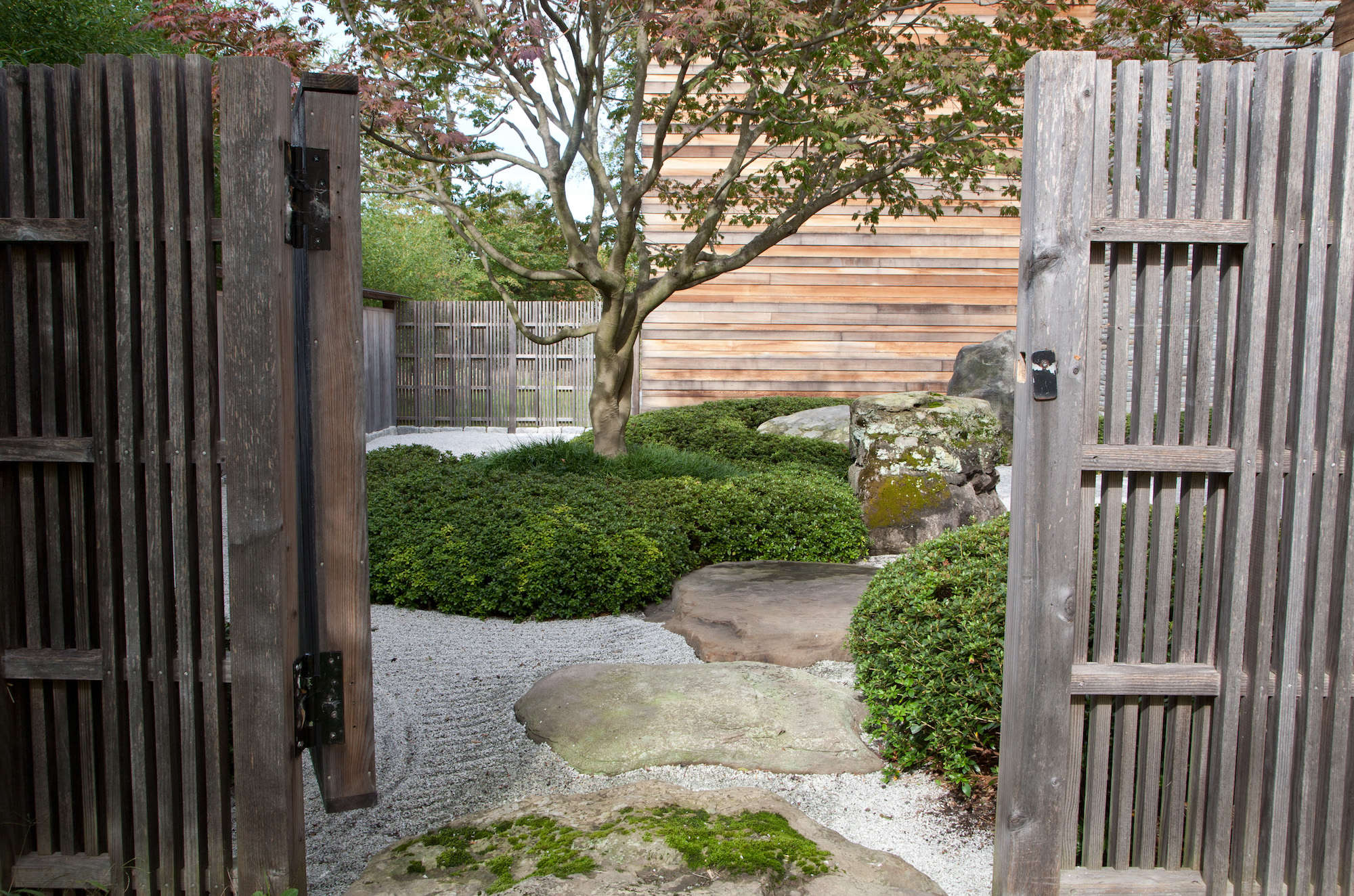 Japanese Garden With Wood Gates Marc Peter Keane