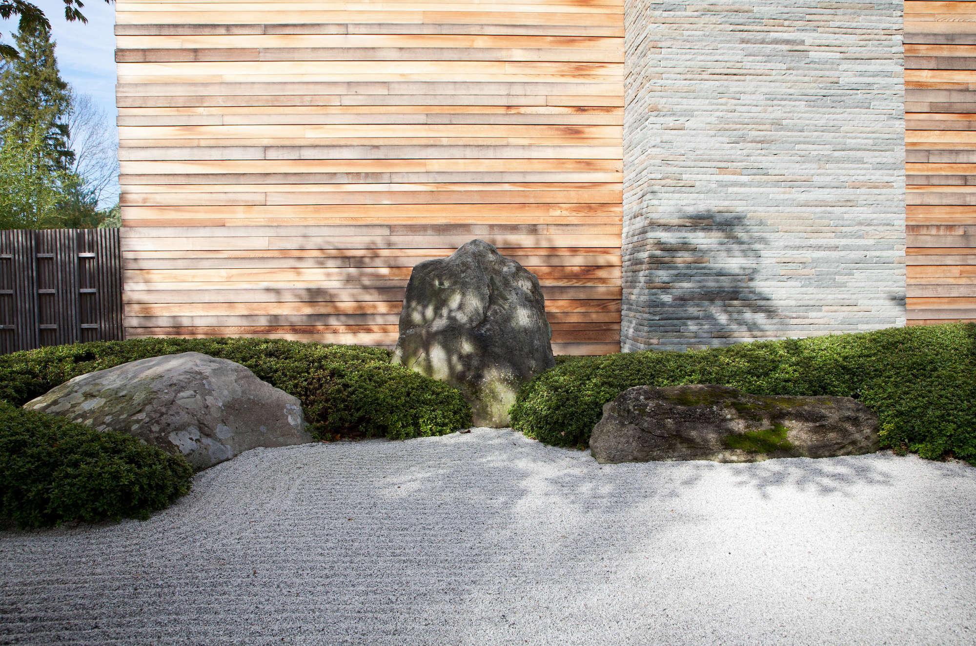 Japanese Sand Ocean Garden Raked Modern House Irvington