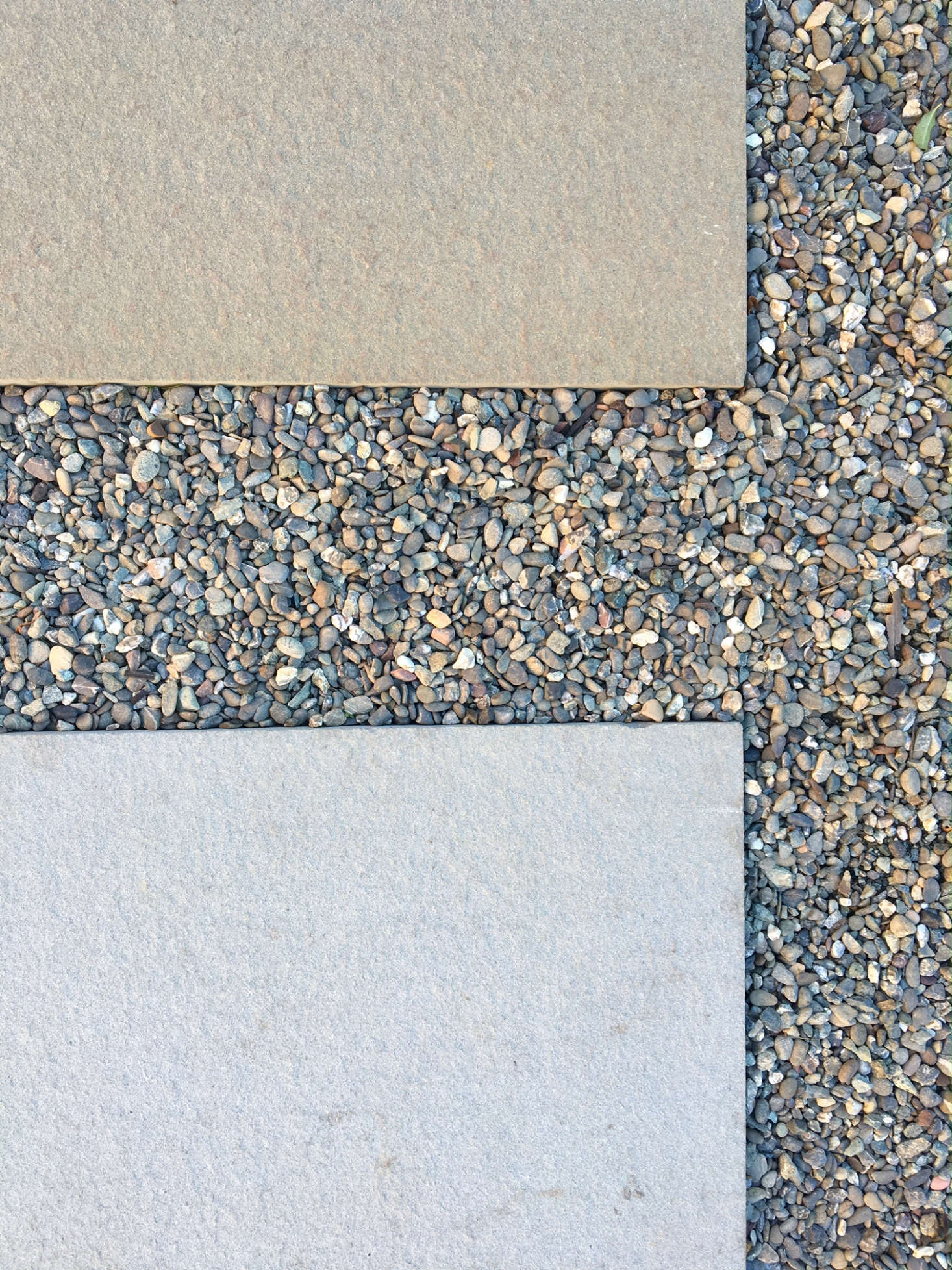 Pea Gravel Filler Is Used As A Permeable U201cgroutu201d Between Oversize Concrete  Patio Pavers
