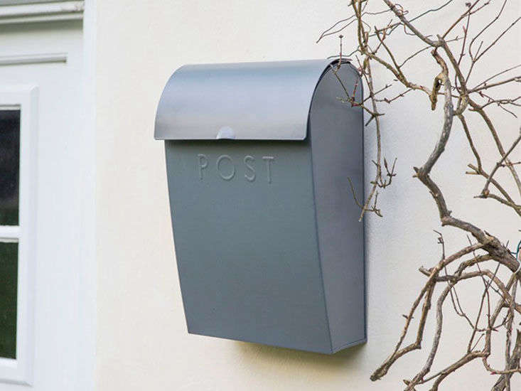 7a821c907b6eb2 The Extra Large Post Box in charcoal is £45 at Willow   Stone.