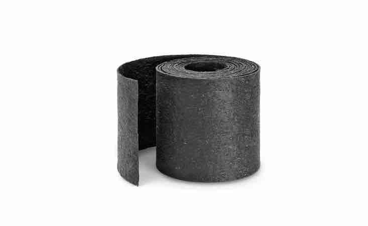 A 4-meter roll of Rubber Edging Strip is 3 millimeters thick and can be cut to length; it is €.80 from Manufactum.