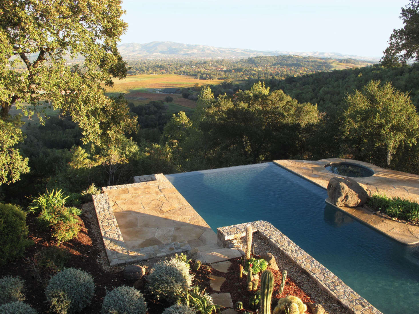A Swimming Pool At A Napa Hills Estate, By Scott Lewis Landscape  Architecture. Photograph