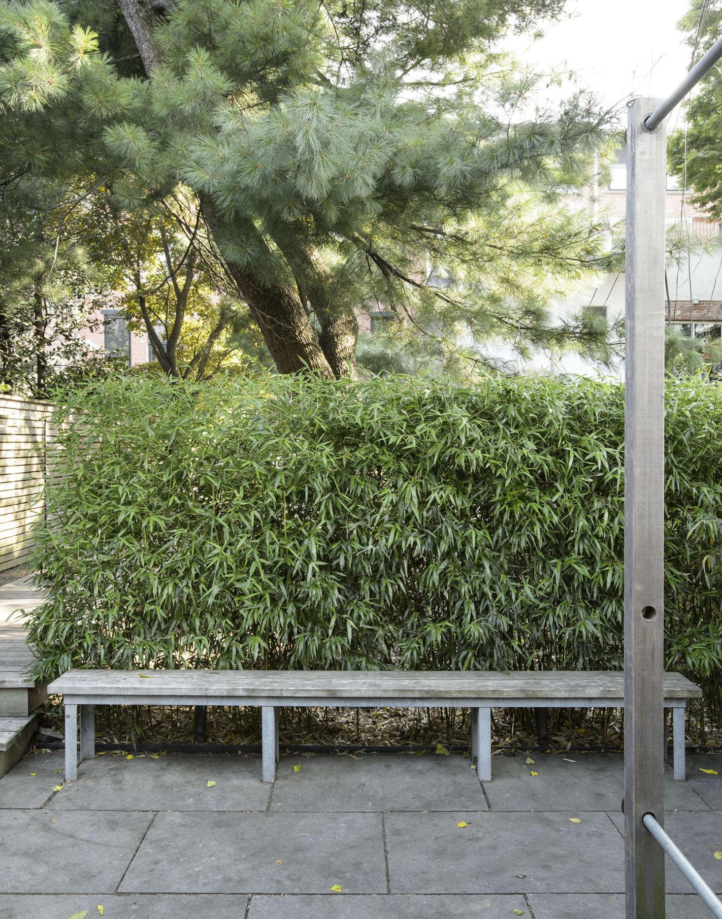 """布鲁克菲尔德的设计师在布鲁克林一家公园里设计了一个在布鲁克林的地方,用了一个""""装饰""""的地方,把它从屋顶上放了一层。马修·威廉姆斯的照片。"""