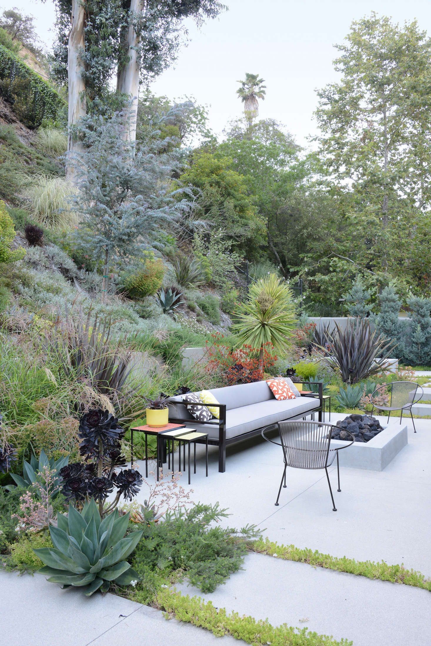 Many people use their fire pit area as an extra room, a place for entertaining, casual dinners, and family gatherings.