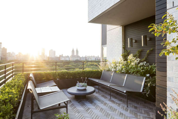Manhattan balcony patio railing by Nicholas Calcott