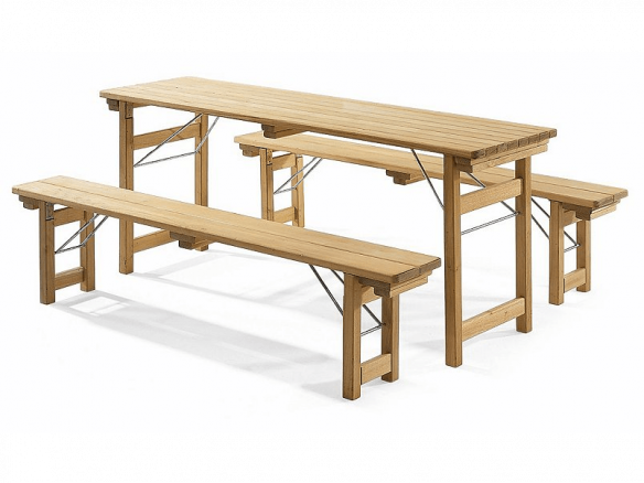 Pub Garden Set Robinia Wood. Outdoor Dining Tables
