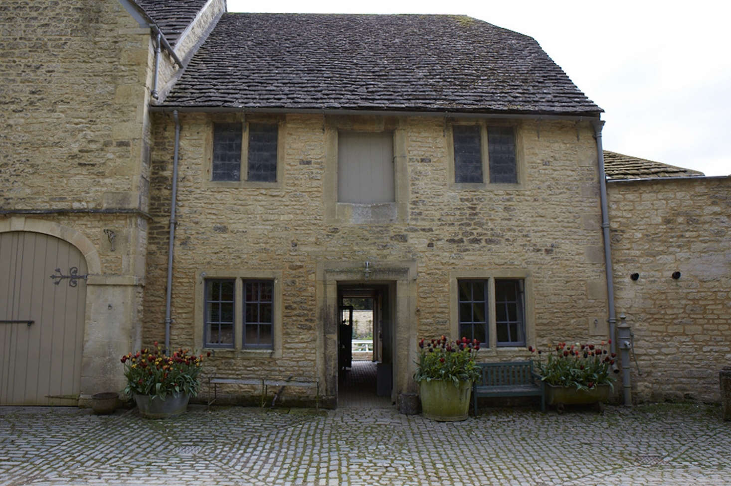 The exterior of the stables and coach house, dating from the 1760s.