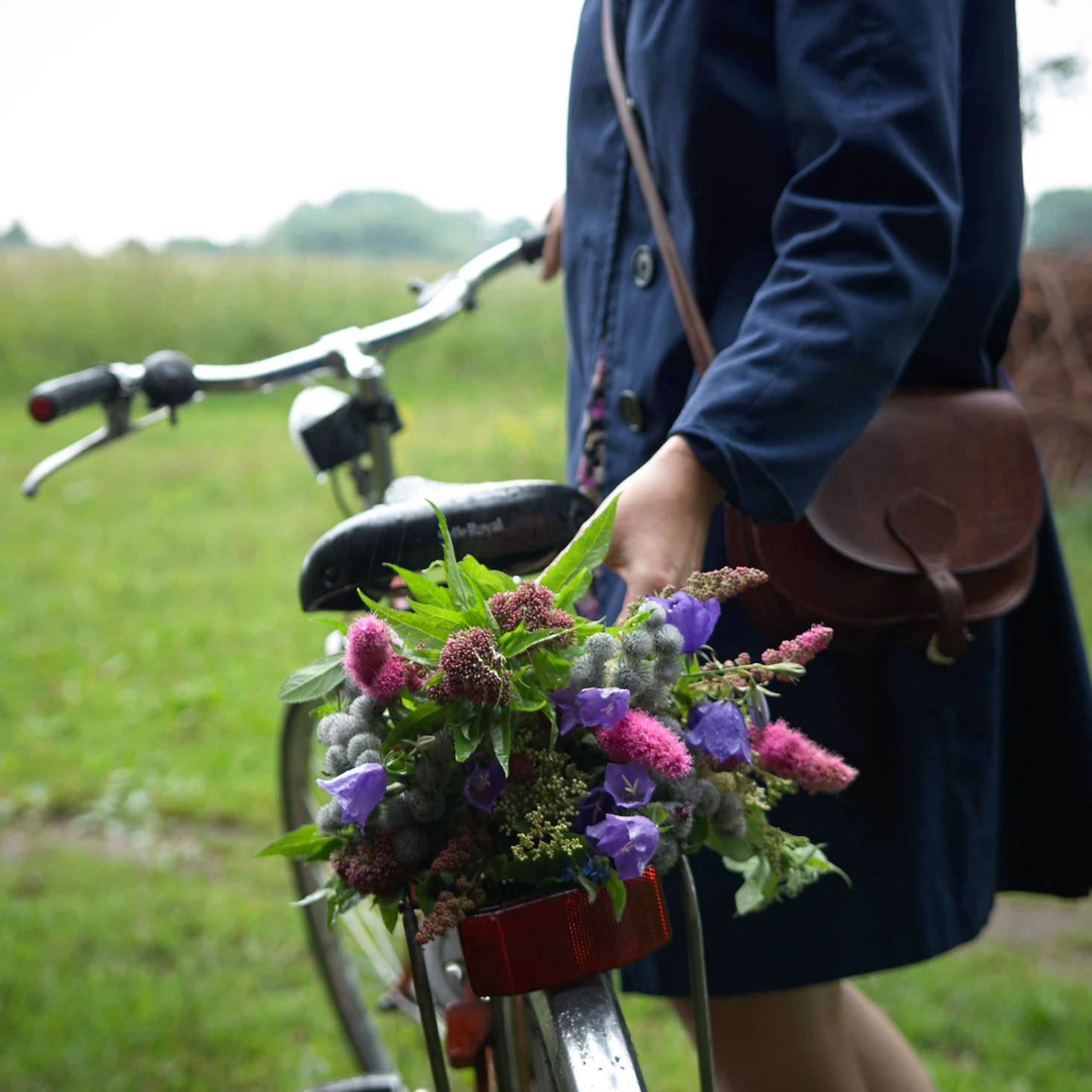 Juliane identifies all the flowers in her compositions, like this one picked while riding home from Lille Mosse, &#8