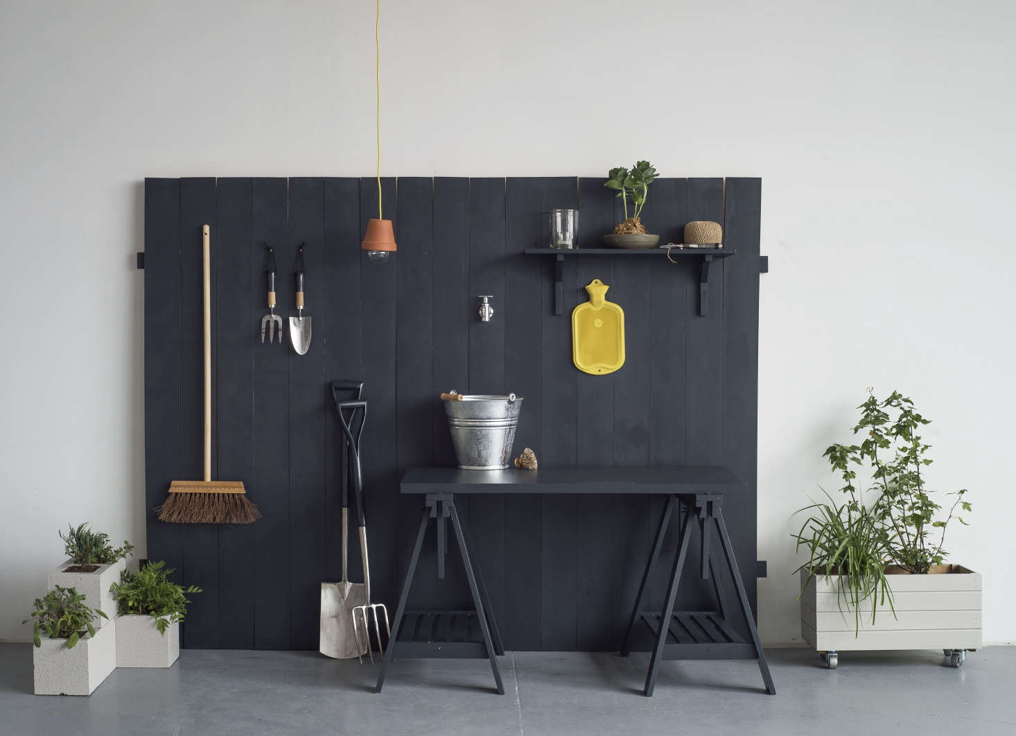 Our  DIY projects, including the container box on wheels, add up to one outdoor room. For the rest, see Gardenista: The Definitive Guide to Outdoor Spaces.