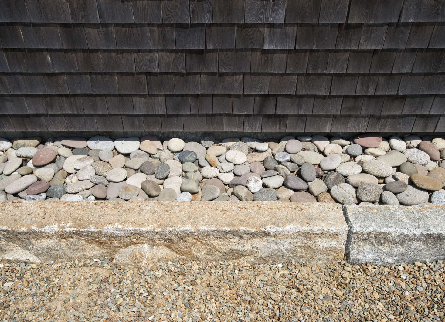 Drainage done right; a French drain system sloughs water away fromthe building&#8