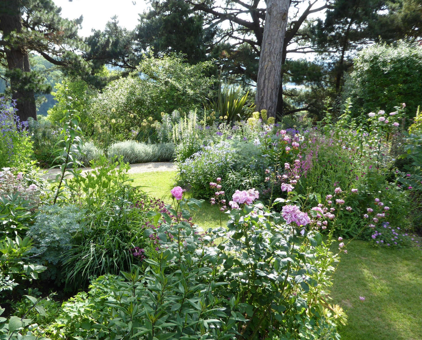 Perennial borders at Kiftsgate Court; photograph by Clare Coulson. For more, see 10 Ideas to Steal from the Romantic Gardens at Kiftsgate Court.