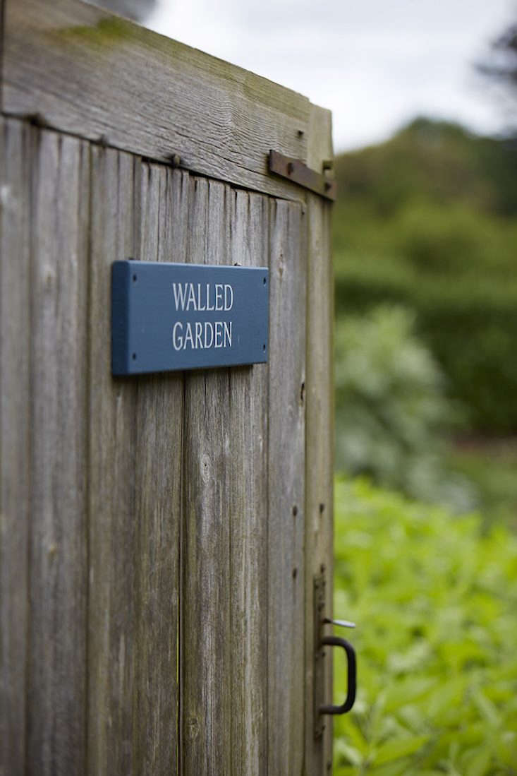 Old Lands Wales walled garden wooden gate by Britt Willoughby Dyer