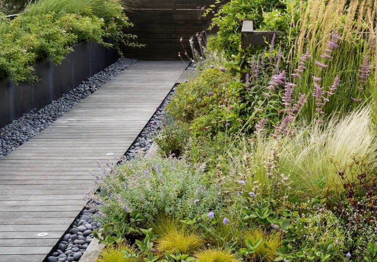 A Wooden Walkway Feels Like Summer Underfoot, Whether Itu0027s A Beach  Boardwalk Or A Rollout Garden Path. With Inspiration From An Ipe Walkway  That Designer ...