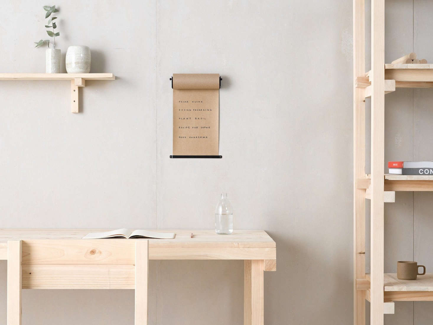 Margot rounded up the most stylish vintage-inspired office accessories in 10 Easy Pieces: Old-School Office Supplies to Keep You Organized, including this wall-hung roll of kraft paper by George & Willy. (They all work great in the kitchen as well.)