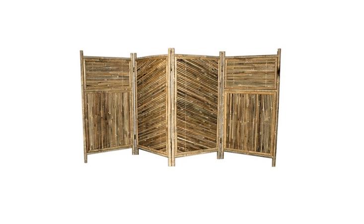 privacy screen 4-panel bamboo enclosure