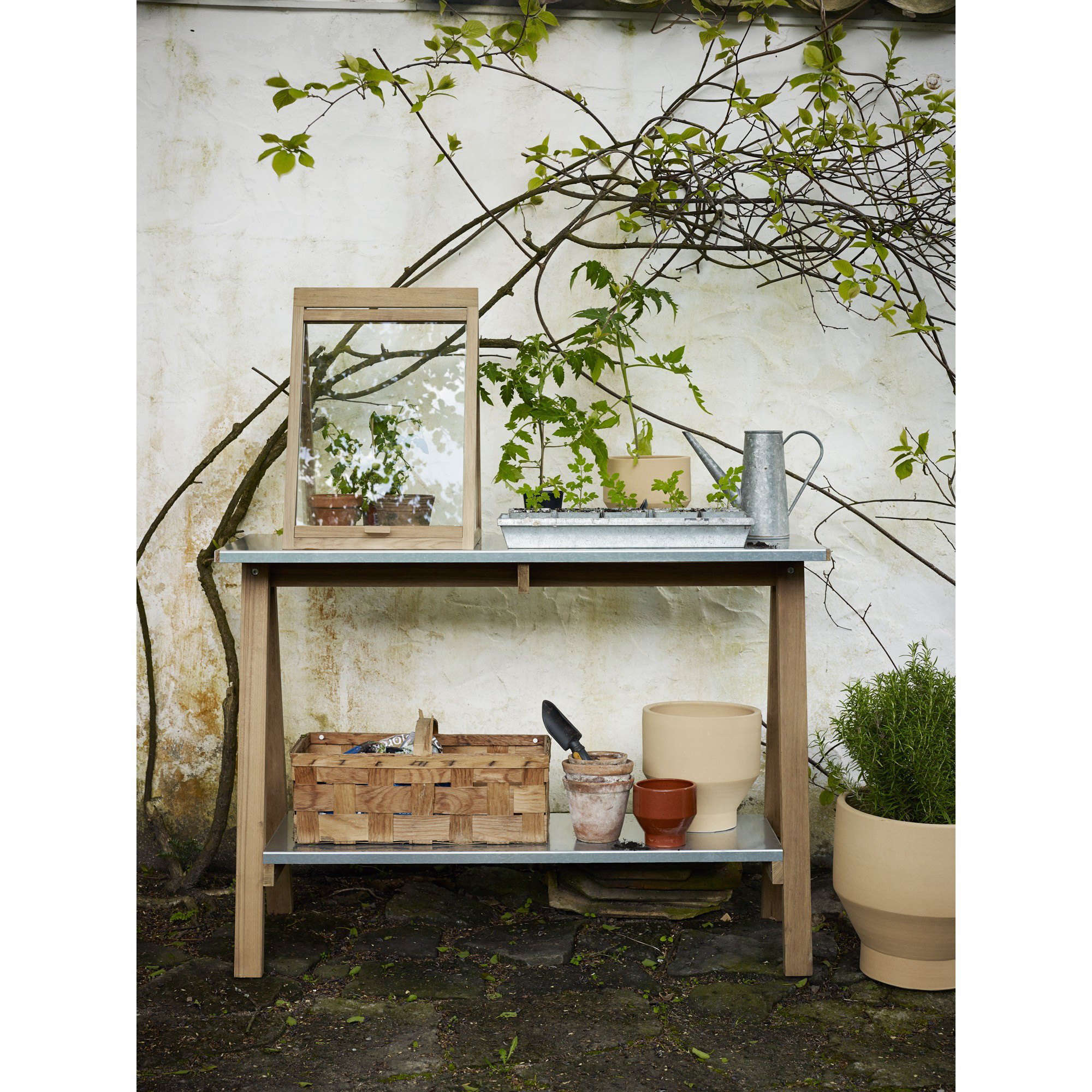 With A Teak Frame, A Steel Plant Tray, And A Glass Front Panel That Lifts  Up Like A Lid, A Tiny Tabletop Greenhouse From Copenhagen Based Designer  Mia ...