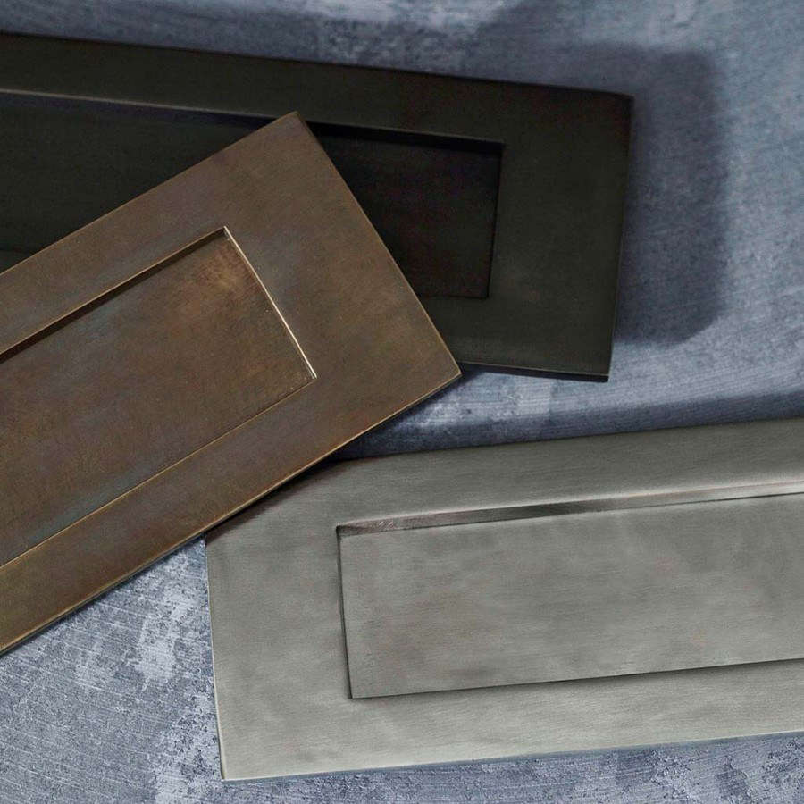 letterbox-door-plate-rowen-and-wren-finishes & Curb Appeal: Classic Hardware for the Well-Dressed Front Door ... Pezcame.Com