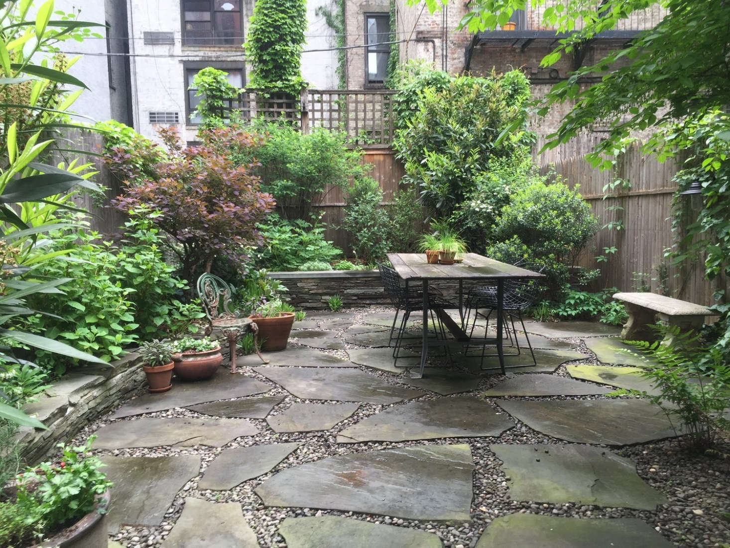 Brook Created A Cohesive Look With A Backyard Patio Of Stone Pavers  U201cgroutedu201d With