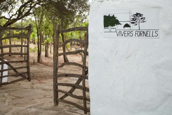 Rustic gates to nursery turned vacation compound, Menorca, Spain, Quintana Partners.