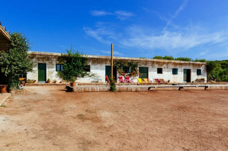 A garden center converted into a vacation compound by Quintana Partners in Menorca, Spain.