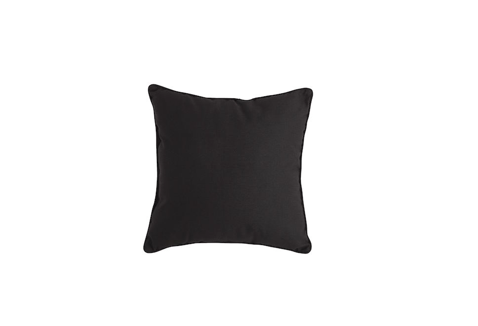 Suitable for use outdoors or in, aCabana Black Pillow is $16 from Pier 1 Imports.