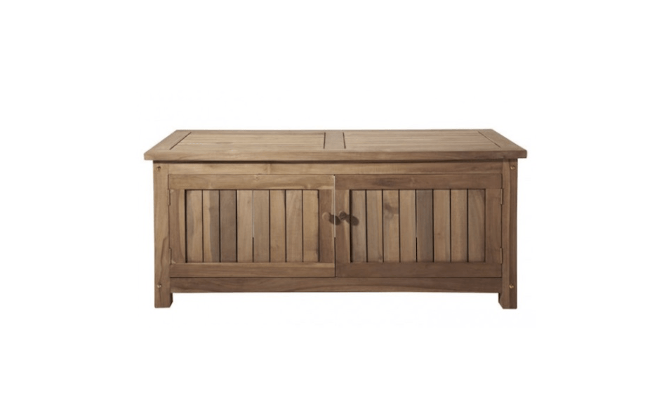 Great From Signature Hardware, A Two Door Keymar Teak Outdoor Storage Bench Is  Available In