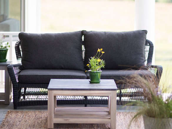 outdoor wicker sofa black from terrain