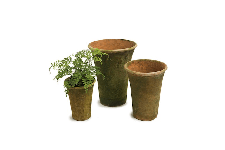 A terra cottaTall Nursery Planter comes in four sizes—4, 6, and 8 inches tall—and is available for from $26.25 to $58.75 depending on size at Campo de Fiori.