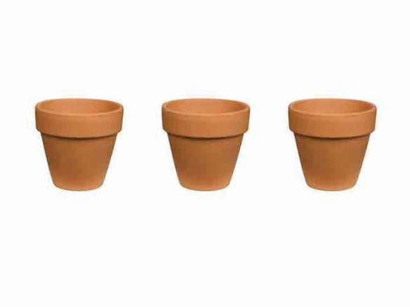 Red Terra Cotta Clay Pots 6 Inch Home Depot