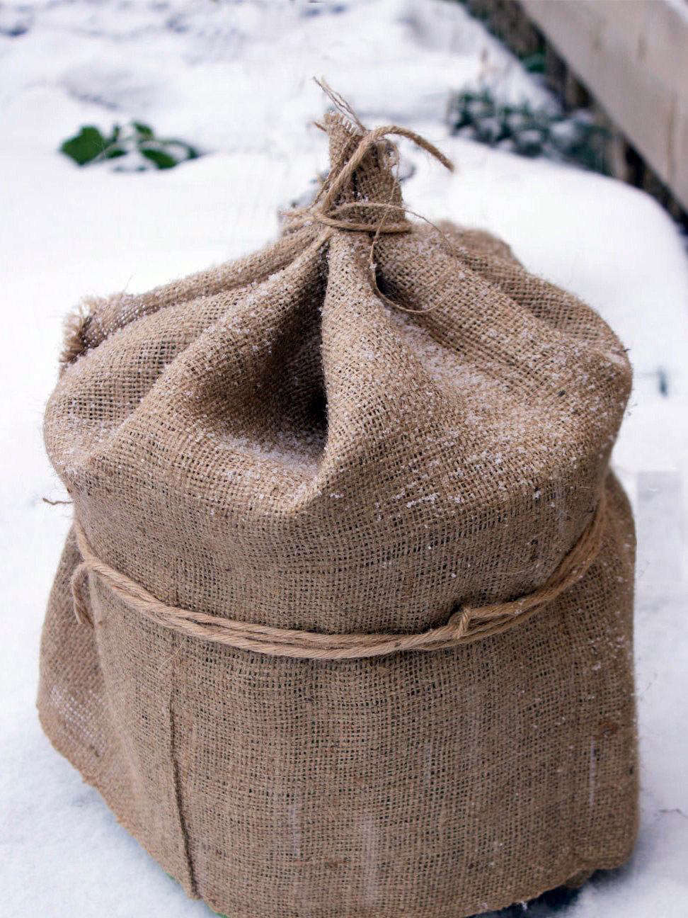A 12-foot-long Burlap Plant Cover with a width of 40 inches is $11.99 from Clever Brand via Etsy.
