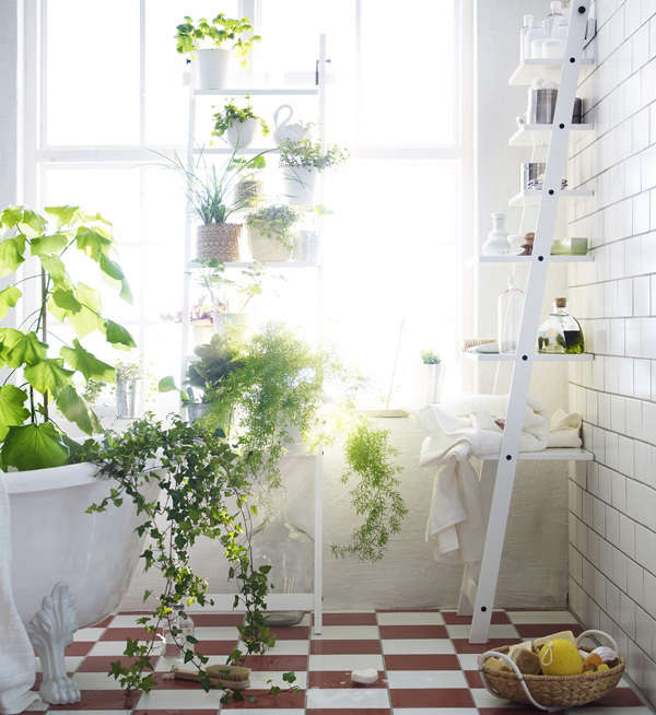 See more atNew From Ikea: A Stepladder Shelf for Plants.