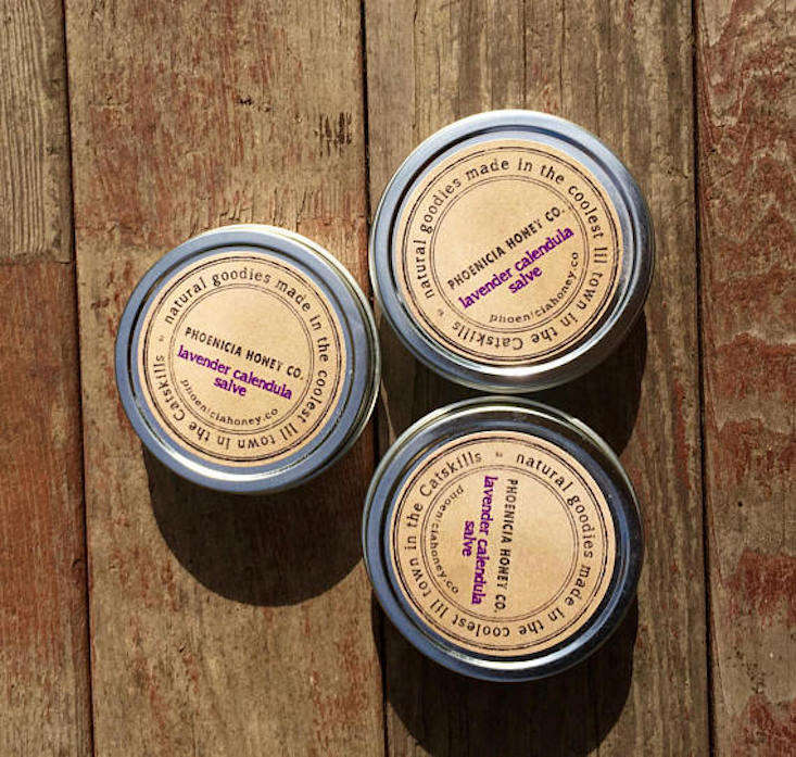 A tin of Lavender Calendula Salve is $ from Pho Honey Co via Etsy.