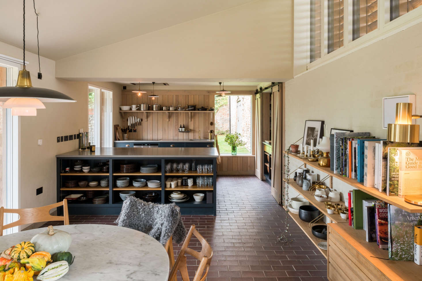 The house has doors on both sides, opening up the interiors to the garden and making it a good entertaining space.