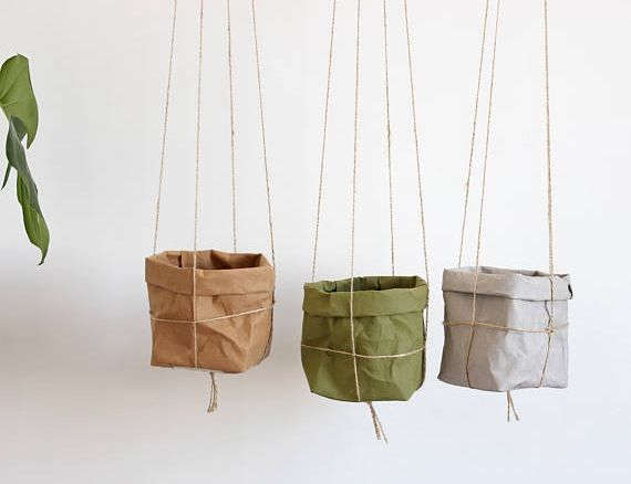 Macram planters with paper pot covers mightylinksfo