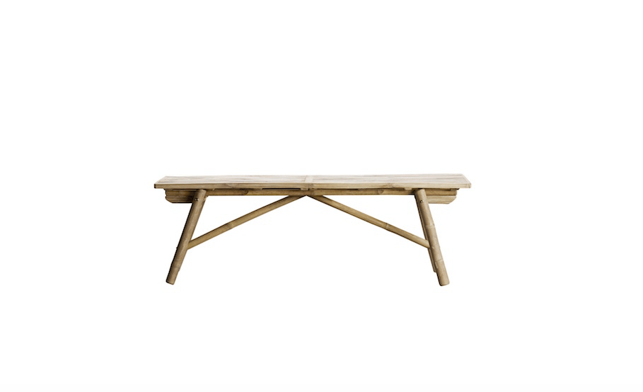 Pleasing 10 Easy Pieces Folding Bamboo Benches Gardenista Gmtry Best Dining Table And Chair Ideas Images Gmtryco