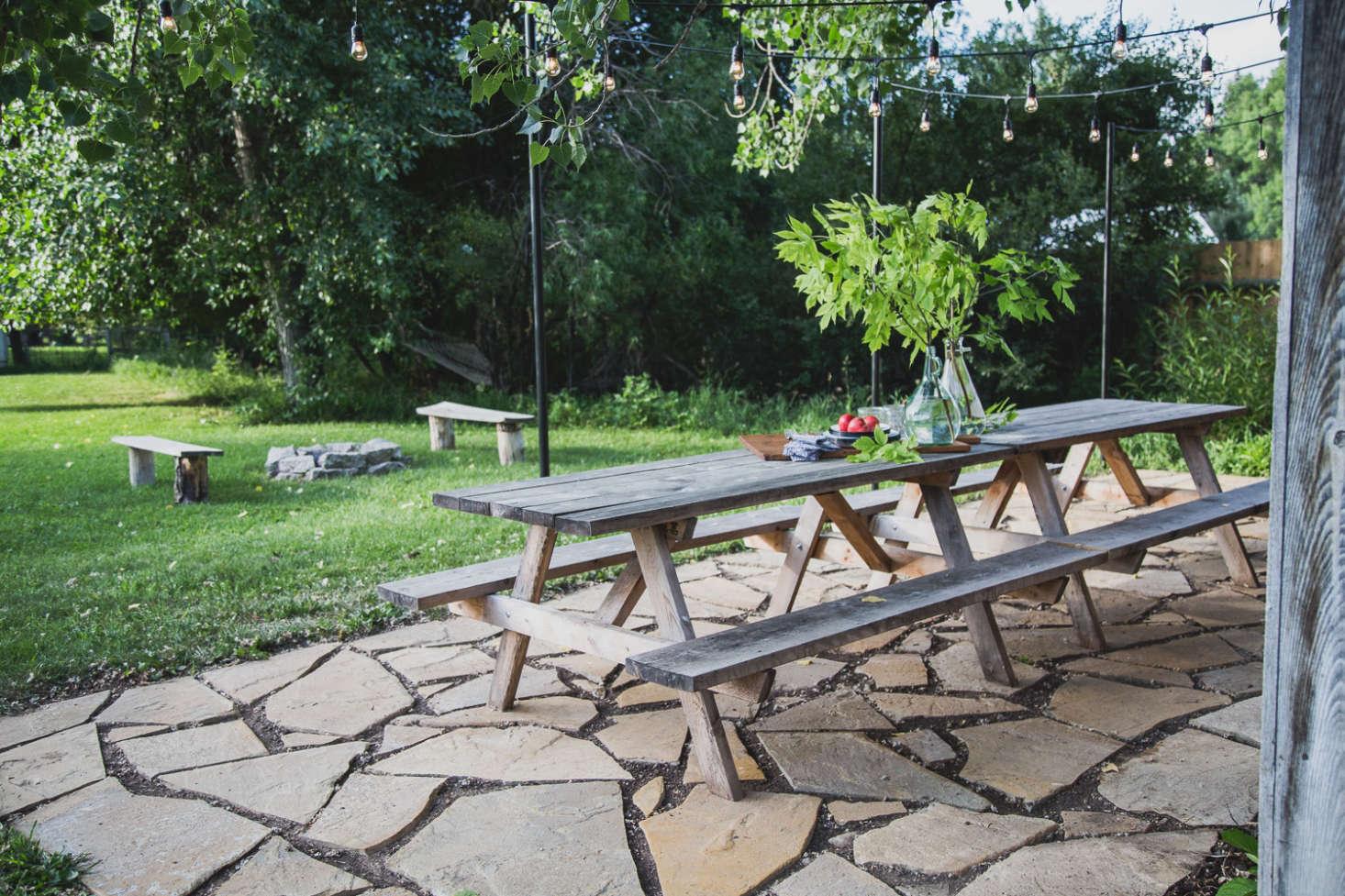 Diy 500 flagstone terrace patio for Diy terrace