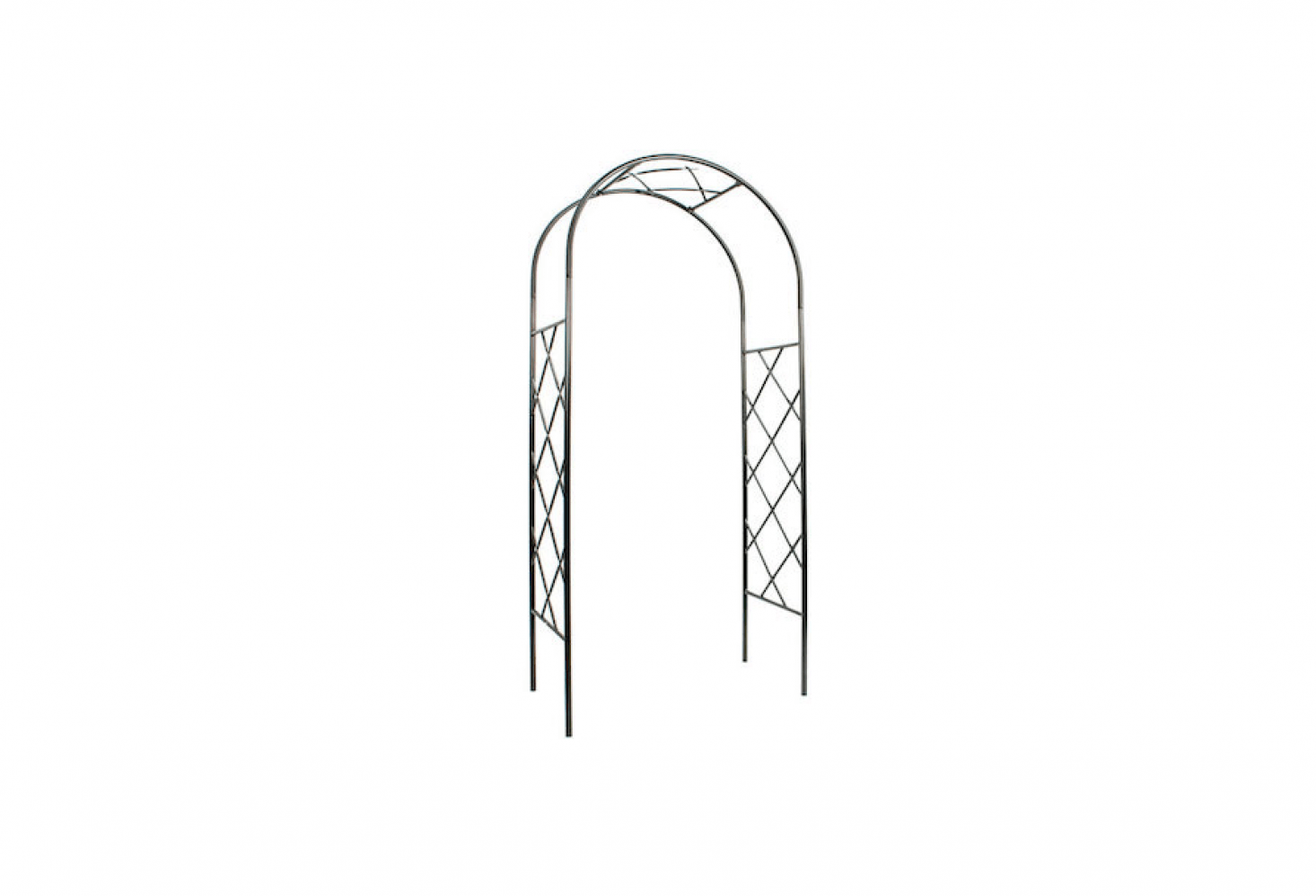 See similar fretwork metal arbors in10 Easy Pieces: Arched Arbors. Photograph via The Monticello Shop.