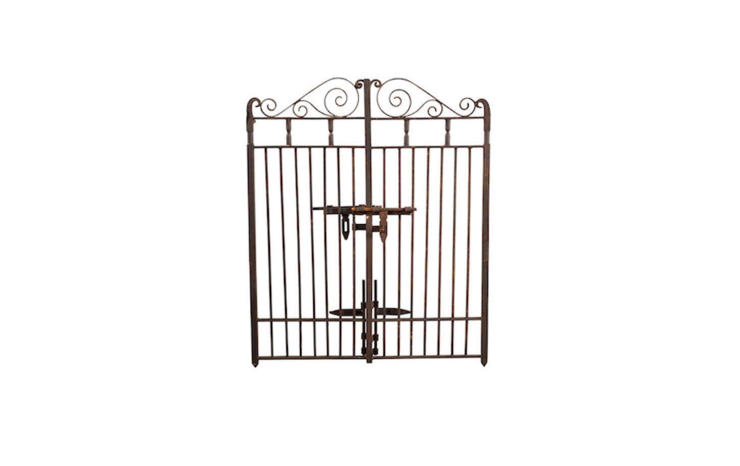 A Hand Forged 53 Inch Wide Classic Iron Gate Is 47 Inches High
