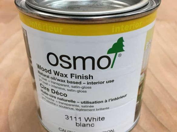 Osmo White Wood Wax Finish